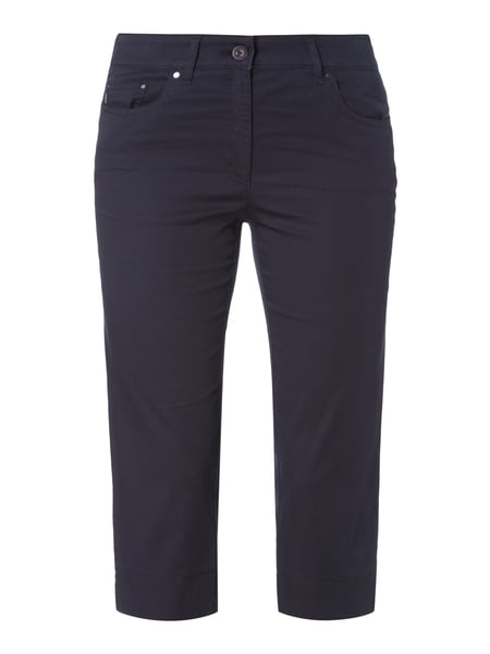 Zerres Slim Fit Caprihose mit Stretch-Anteil Marineblau