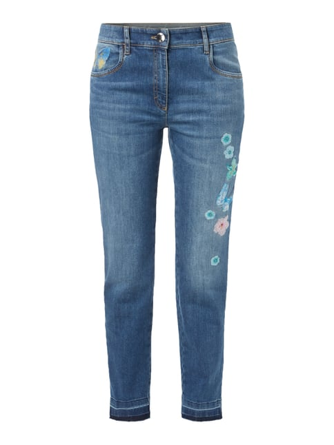 Stone Washed Comfort Fit Jeans Blau / Türkis - 1