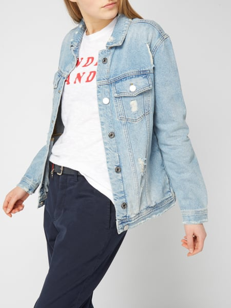 ZOE-KARSSEN Boyfriend Fit Jeansjacke im Destroyed Look in Blau ... 8f9704e67b